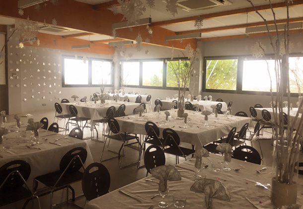 The banquet hall of Domaine Vayssette